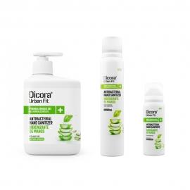 Set disinfettante per le mani | Senza risciacquo | Alcool 70% | Gel 500ml + spray 200ml + spray 75ml | Aloe Vera | Dicora