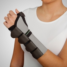 Polsiera abduzione del pollice con stecca palmare | Fascia elastica con stecca palmare | Chiusura in velcro