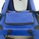 Trasportino per animali | Taglia L | Sopporta 15 kg | 67x50x49 cm | Pieghevole | Blu | Balú | Mobiclinic - Foto 3