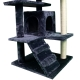 Tiragraffi per gatto | Grande | 3 altezze | 50x50x132 cm | Grigio | Tico | Mobiclinic - Foto 2