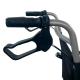 Sedia a rotelle da transito| Pieghevole | Alluminio | Ruote piccole | Freni sul manubrio | Nero | Jupiter | Clinicalfy - Foto 6