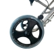 Sedia a rotelle Transit   Pieghevole   Alluminio   Ruote piccole   Freni sul manubrio   Nero   Jupiter   Clinicalfy - Foto 10