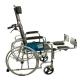 Sedia a rotelle | Pieghevole | Schienale e poggiapiedi reclinabili | Acciaio | Nero | Obelisco | Mobiclinic - Foto 7