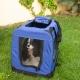 Trasportino per animali | Taglia M | Sopporta 10 kg | 57x38x44 cm 1 Pieghevole | Blu | Balú | Mobiclinic - Foto 8