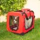 Trasportino per animali   Taglia M   Sopporta 10 kg   57x38x44 cm   Pieghevole   Rosso   Balú   Mobiclinic - Foto 7