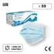 50 Maschere chirurgiche tipo IIR | 0,13€/pezzo | Senza grafene | 3 strati | Monouso | 1 scatola da 50 pezzi | Mobiclinic - Foto 1