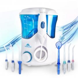 Idropulsore | Irrigatore dentale | Familiare | 7 testine funzionali | Serbatoio 600 ml | Mobiclinic
