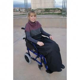 Coperta termica per sedia a rotelle   Coperta impermeabile e termoregolabile   90 x 105 cm