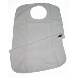 Bavaglino per adulti | Con tasca | Impermeabile | Ricci e riutilizzabili | 75X45 cm