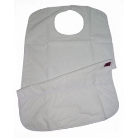 Bavaglino per adulti   Con tasca   Impermeabile   Spugna e riutilizzabile  75X45 cm