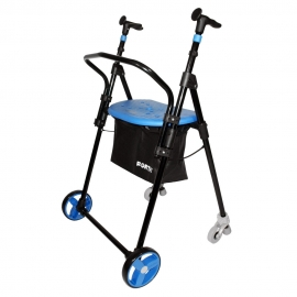 Deambulatore | Girello per anziani | 4 ruote | Acciaio | Pieghevole | Blu | Air On Plus | FORTA