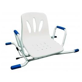 Sedia girevole per vasca da bagno | 4 posizioni | Acciaio inox | Acciaio inox