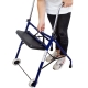 Deambulatore per anziani   Pieghevole   Sedile   2 ruote   Blu   Merida   Clinicalfy - Foto 10