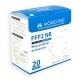20 Maschere per adulti FFP2 bianche | 0,59€/pezzo | Senza grafene | 5 strati| Marcatura CE | Confezione da 20 pz - Foto 5