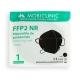 20 Maschere per adulti FFP2 Nero | 0,64€/pezzo | Senza grafene | 5 strati | Senza valvola | Marcato CE | Scatola da 20 pezzi - Foto 4