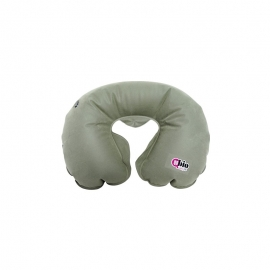 Collare anatomico gonfiabile   Cuscino da viaggio   Colore grigio   48x52 cm