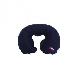 Collare anatomico gonfiabile   Cuscino da viaggio   Colore blu navy   48x52 cm