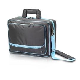 Valigetta multifunzionale podologo e odontoiatra | Borsa per visite a domicilio | Nero e azzurro | Elite Bags