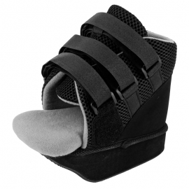 Scarpa tacco post-chirurgica | Chiusura in velcro | Colore nero | Varie dimensioni