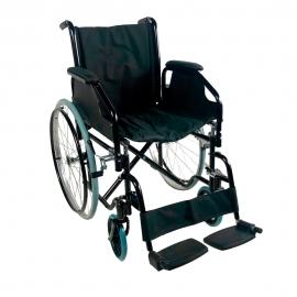 Sedia a rotelle | Pieghevole | Acciaio |Ruote grandi | Nero | Catedral | Ortopedica | Mobiclinic