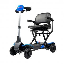 Scooter elettrico pieghevole   Auton. 15Km   Piegatura automatica con telecomando   24V   Azzurro  Apolo   Mobiclinic