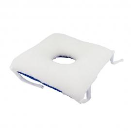 Cuscino antidecubito | Quadrato | Con foro | Per sedia o divano | 40 x 40 cm | Mobiclinic