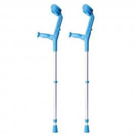 Stampella ortopedica   Bastone canadese   Doppia regolazione   Colore: blu   Pack: 2 unità   BCR