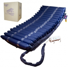 Materasso antidecubito d'aria | Con compressore |TPU Nylon| 200x120x22|20 celle|Blu|Mobi 4 PLUS|Mobiclinic