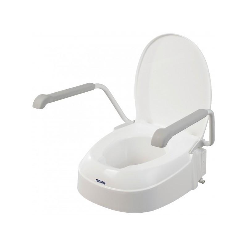 Invacare Aquatec 90 Toilet Seat Raiser Lid White