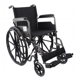 Foldable Wheelchair | Steel | Removable Footrests and Armrests | Seat: 40 cm | Model: S220 Sevilla | Mobiclinic