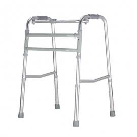 Looprek voor ouderen   Zonder wielen   Ultra-lichtgewicht aluminium   Verstelbaar en opvouwbaar   Zilver   Mezquita   Mobiclinic