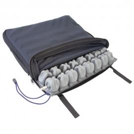 Mobiclinic Q-AIR, Poduszka przeciwodleżynowa do wózków inwalidzkich, 1 zawór, 45x40x6 cm