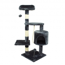 Drapak dla kota   Średni   3 wysokości   40x40x112 cm   Szary   Dziki   Mobiclinic