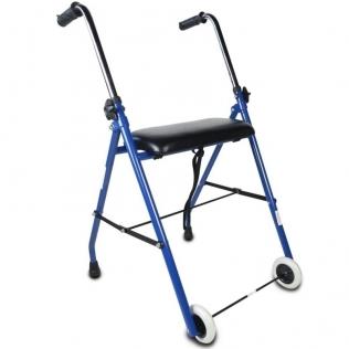 Andarilho 2 rodas | Assento almofadado | Azul | Emerita | Mobiclinic