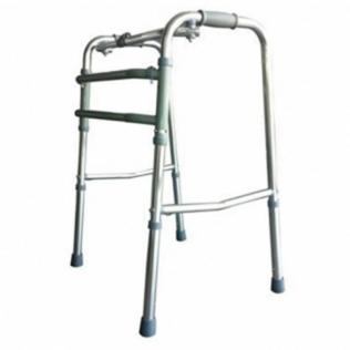 Andarilho para idosos | Sem rodas | Alumínio Ultraleve | ajustável e dobrável | Prateado | Mezquita | Mobiclinic