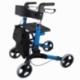 Andarilho de 4 rodas com travões   Dobrável e ajustável   Assento e encosto   Celeste   Trajano   Mobiclinic - Foto 1