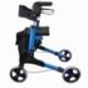 Andarilho de 4 rodas com travões   Dobrável e ajustável   Assento e encosto   Celeste   Trajano   Mobiclinic - Foto 5