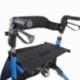 Andarilho de 4 rodas com travões   Dobrável e ajustável   Assento e encosto   Celeste   Trajano   Mobiclinic - Foto 6