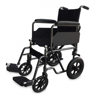 Cadeira de rodas de aço | Dobrável | Com apoio para os pés e apoios para os braços removíveis | S230 Sevilla | Mobiclinic