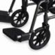 Cadeira de rodas de aço | Dobrável | Com apoio para os pés e apoios para os braços removíveis | S230 Sevilla | Mobiclinic - Foto 7