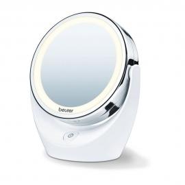 Espelho com luz led e aumento para maquiagem Beurer. Espelho cosmético giratório