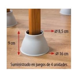 Cone de levantamento 'Patas elefante' (jogo 4uds), altura 9cm, dia 9cm