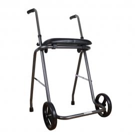 Andador dobrável | Com rodas e assento | Altura regulável (75 - 95 cm)