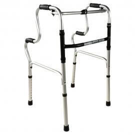 Andarilho sem rodas | Dobrável | Altura ajustável | Alumínio | Pórtico | Mobiclinic