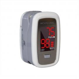 Oxímetro de pulso de dedo   Ecrã OLED   Frequência cardíaca e gráfico de barras   PX-02   Mobiclinic