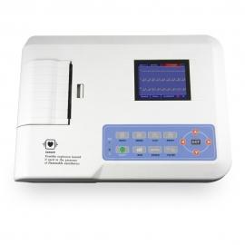 Electrocardiógrafo digital portátil de 3 canais  ECG   Ecrã LCD   Sistema de impressão   MB300G   Mobiclinic