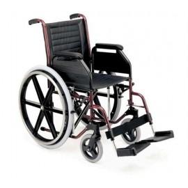 Cadeiras de rodas dobráveis em alumínio e aço