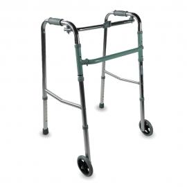 Adult walker | aluminium | vikning | 2 hjul | Höj- och sänkbara | Capitel | Mobiclinic