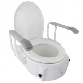 Toalettlift   Med lock   5-15 cm   Justerbar i höjd   Vippbar   Fällbara armstöd   Vägg   Mobiclinic